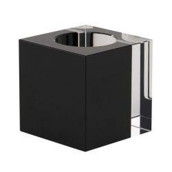 Crystal Tea Light Holder | Black/Clear