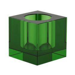 Crystal Tea Light Holder | Green