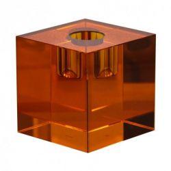 Crystal Candle Holder | Orange