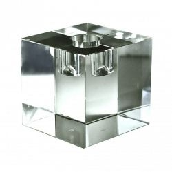Crystal Candle Holder | Clear