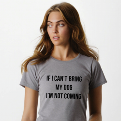 T-shirt Can't Bring my Dog | Grey