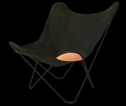 Canvas Butterfly Chair | Black