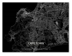 Metal Wall Decoration | City Map | Cape Town