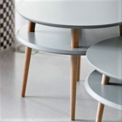 Round Coffee Table UFO | Dark Grey