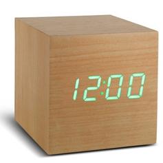 Würfel-Klick-Uhr | Buche & Grün