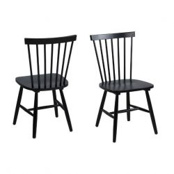Lino Dining Chairs Set of 2 | Black