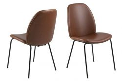 Set of 2 Chairs Mita | Brandy