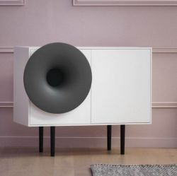 Cabinet Sound System | White & Antracite