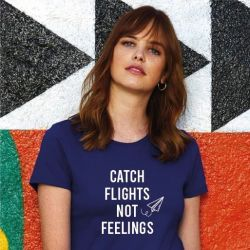 ♀ T-shirt Catch Flight | Bleu