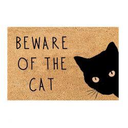 Fußmatte Vorsicht vor der Katze