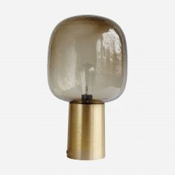 Table Lamp Note | Grey & Brass