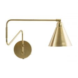 Wall Lamp Game | Brass & White Large