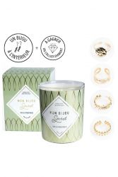 Candle with Golden Ring | Almond