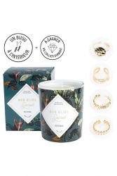 Candle with Golden Ring | Musk