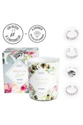Candle with Silver Ring | Raspberry