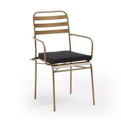 Chaise avec Accoudoir Kuala | Doré