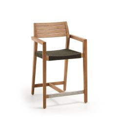 Thor Barstool | Light wood and Grey