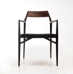 Chair Aya  | Natural Walnut Wood & Leather Seat
