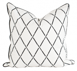 Hanoi Cushion Cover 50 x 50 cm | White
