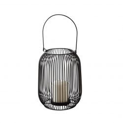Candle Holder Lantern Ø 15 x 21 cm | Black