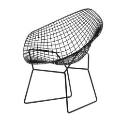 Chair Diament | Black + Black Cushion