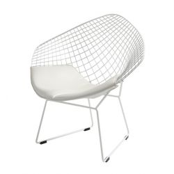 Chair Diament | White + White Cushion