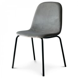 Chaise Felix Velours | Anthracite