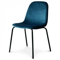 Chaise Felix Velours | Bleu Saxo