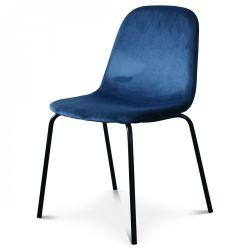 Chaise Felix Velours | Bleu Cobalt