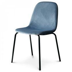 Chaise Felix Velours | Bleu Glacier