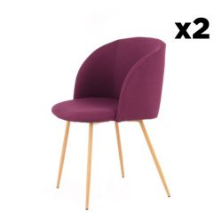 Set of 2 Chairs Denise 222 | Purple