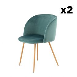Chair Dena Set of 2 | Green