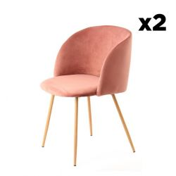 Set de 2 Chaises Denise 222 | Rose