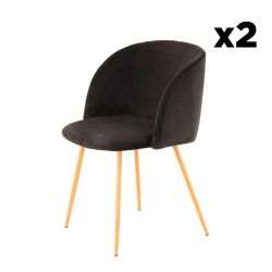 Set of 2 Chairs Denise 222 | Black