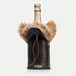 Durable Champagne coolers Of Wool | Brown Silky