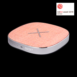 Power Bank & Wireless Qi Charger CHARGEit | Pink