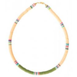 Necklace Charlie | Peach & Olive Green