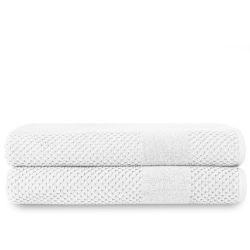 Badelaken Chortex-Waben-Set mit 2 Stück | Weiß