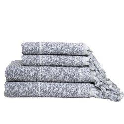 Handtuch-Set IVY Hitit | Grau/Weiß