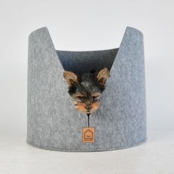 Round Felt Basket Cat/Dog | Good Morning