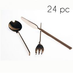 Cutlery 24 Pcs | Chocolate Shiny