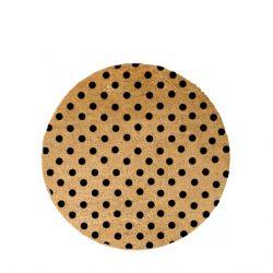Kreisförmige Fußmatte | Schwarze Punkte