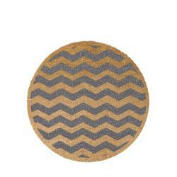 Kreisförmige Fußmatte | Chevron-Grau