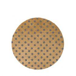 Kreisförmige Fußmatte | Graue Punkte