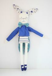 Circus Rabbit Blue