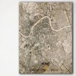 Holzwanddekoration | Stadtplan | Rom