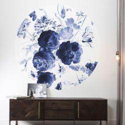 Wandplakat 190 cm | Königsblaue Blumen