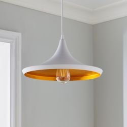Pendant Lamp Over-Table | White & Gold