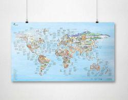 Wiederbeschreibbare Weltkarte | Klettern im Freien