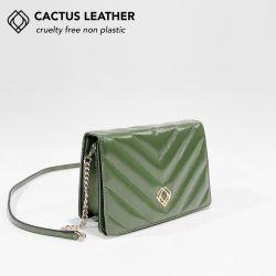 Clutch - Kaktusleder Stiche | Kaktusgrün